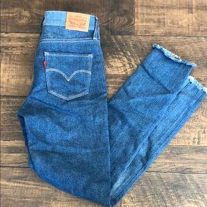 levi strauss high rise skinny jeans